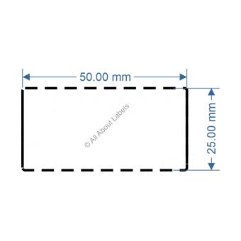 50mm x 25mm White TT Data Strip - 82039
