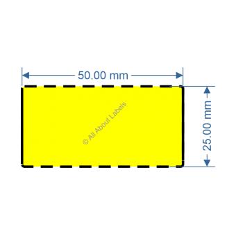 50mm x 25mm Yellow DT Data Strip - 82034