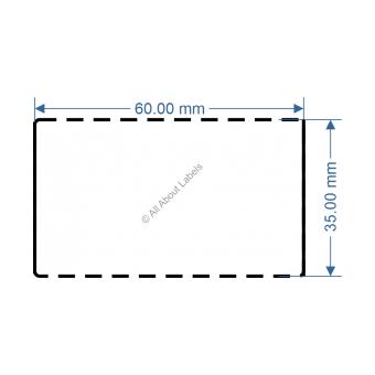 60mm x 35mm White DT Data Strip - 82045