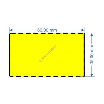 60mm x 35mm Yellow TT Data Strip - 82050