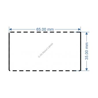 65mm x 35mm White TT Data Strip - 82051